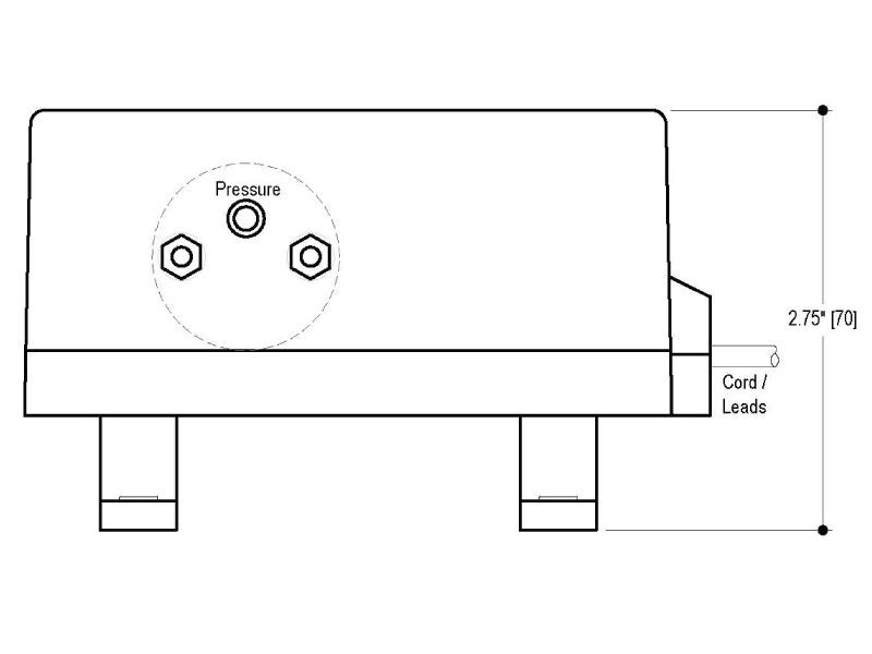 BP Small Diaphragm Pump - BP-101 - Drawing View1