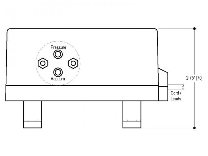 BP Small Diaphragm Pump - BP-202 - Drawing View1