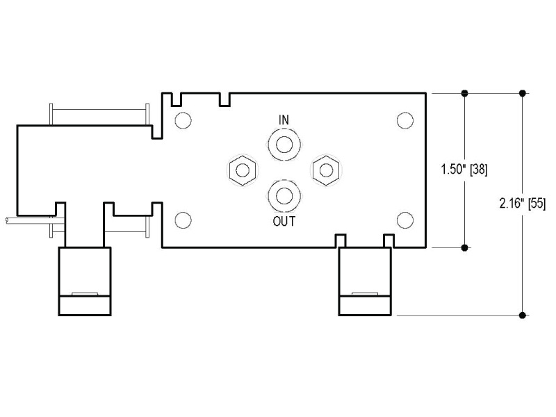 BP Small Diaphragm Pump - BP-303 - Drawing View1
