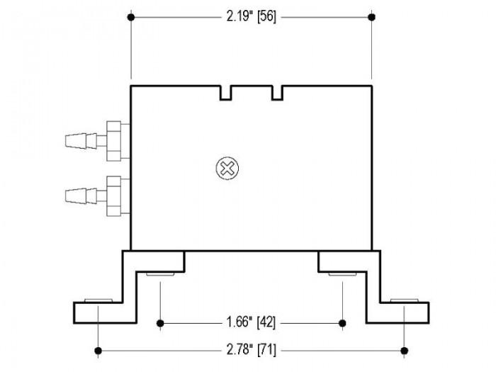 BP Small Diaphragm Pump - BP-303 - Drawing View2