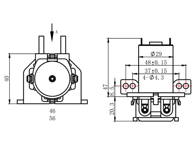Peristaltic Pump - PP-2 - Drawing View2