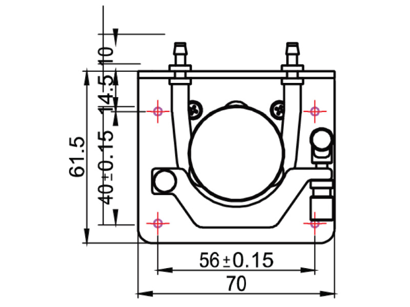 Peristaltic Pump - PP-5 - Drawing View1
