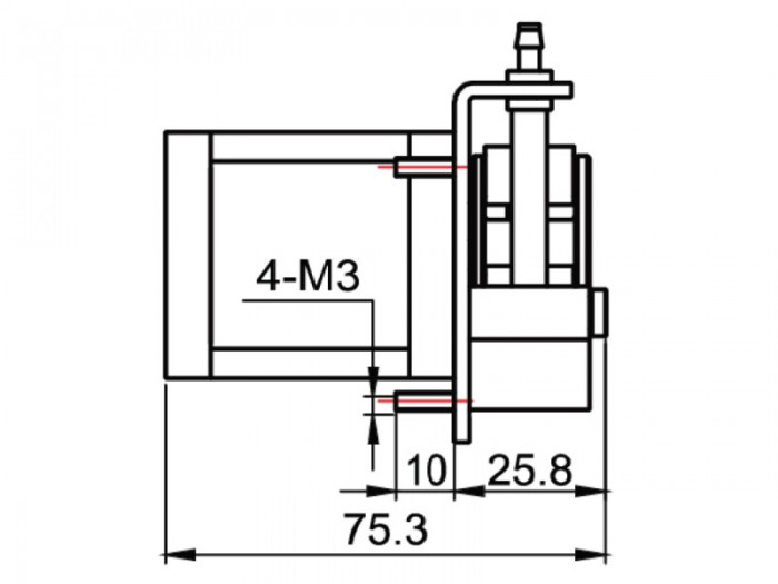 Peristaltic Pump - PP-5 - Drawing View2