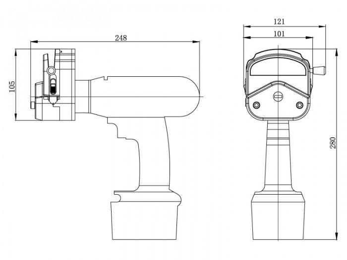 Precision-Peristaltic-Pump-LAB-6900-Drawing-View1